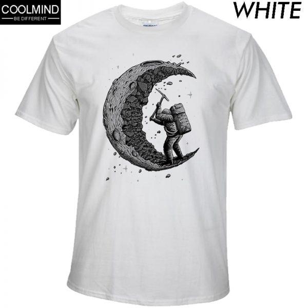 Gigging the Moon Print T-shirt