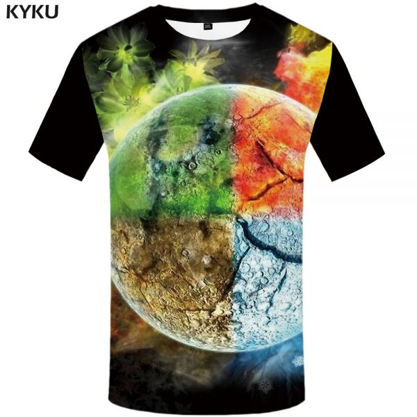 Flame T-shirt 3d Guitar Tshirts