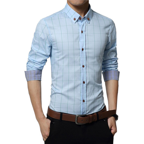 100% Cotton Dress Shirts Business Casual Shirts