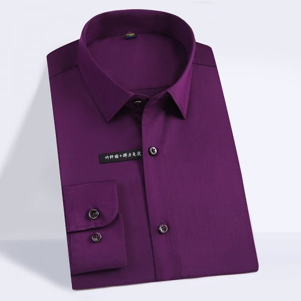 Bamboo Fiber Dress Shirts Soft Shirt