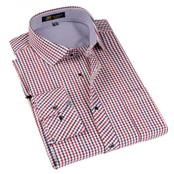 Classic Plaid Shirt Long Sleeve Dress Shirts