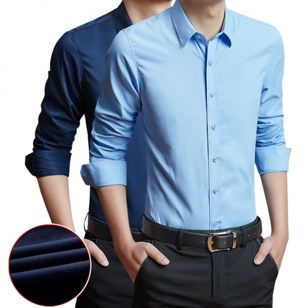 Classical Male Shirts Formal Business Shirt