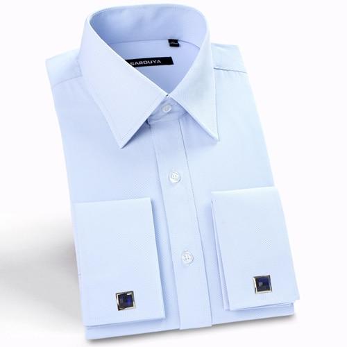 French Cuff Solid Dress Shirts