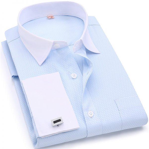 French Cufflinks Shirt Wedding Dress