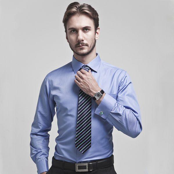 Luxury Men's French Cuffs Dress Shirts