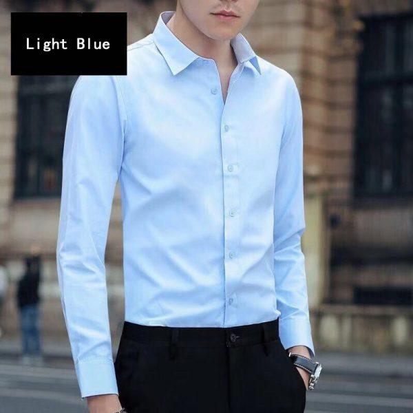 Men Business Dress Long Sleeved Shirt