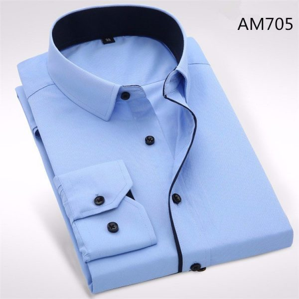 Men Dress Shirts Casual Business Shirt
