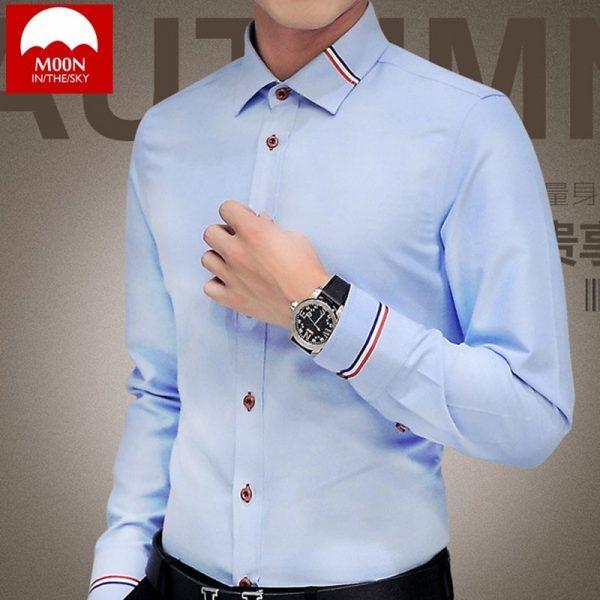 Men Shirt Oxford Business Shirts