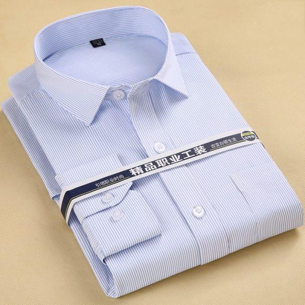 Spring Men Shirt Striped Formal Shirt