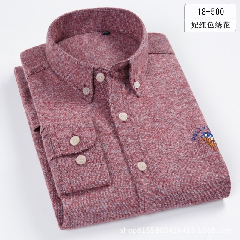 100% Cotton Plain Shirt Spring Casual Shirts