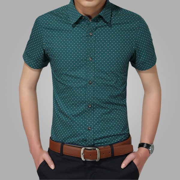 Beach Dot Shirt Short Sleeve Shirts