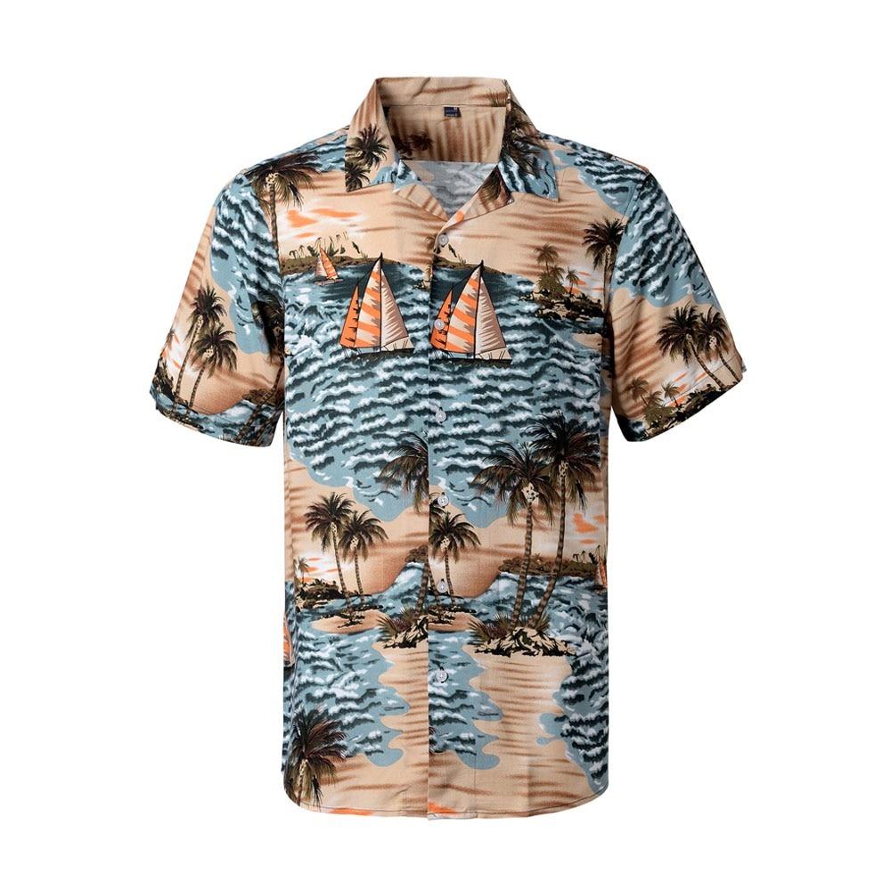 Beach Hawaiian Shirt Casual Floral Shirts