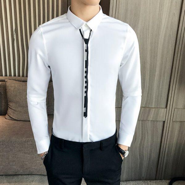 Business Banquet Men Dress Shirt