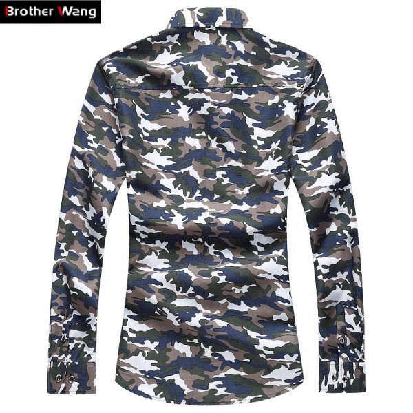 Camouflage Printed Casual Shirts Leisure Shirts