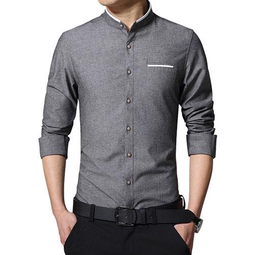 Casual Men Shirt Long Sleeve Shirts