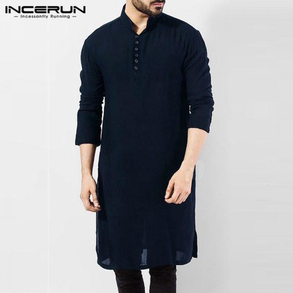 Casual Men Shirts Indian Kurta Suit Pakistani Shirt