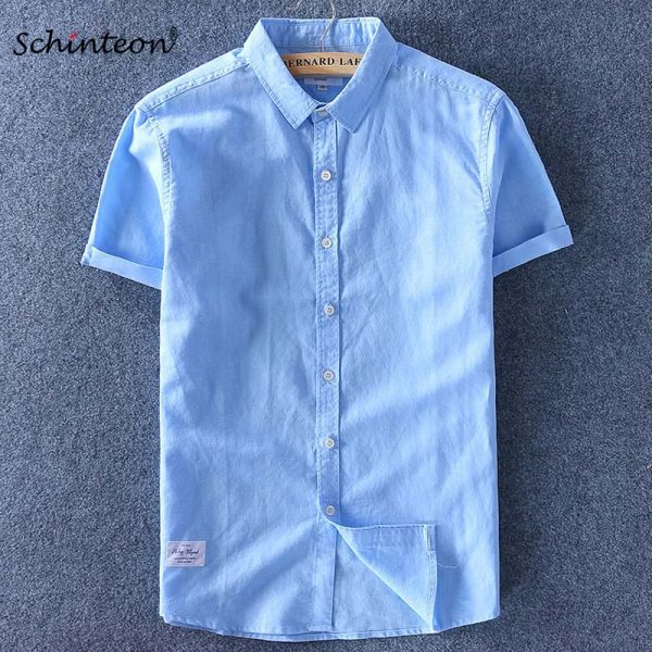 Cotton Linen Shirt Thin Top Slim Casual Shirts