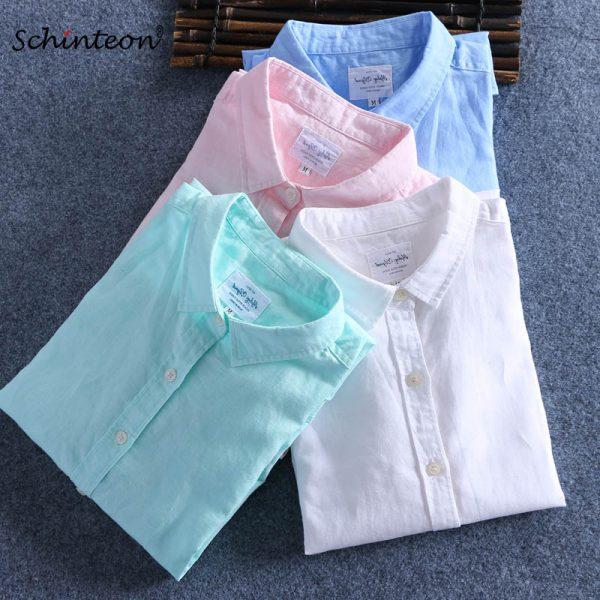 Cotton Linen Shirts Comfortable Undershirt