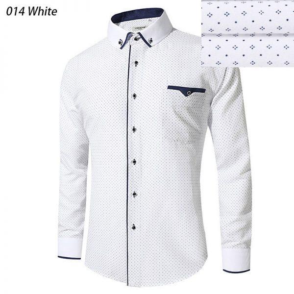 Dress Shirts Men Long Sleeve Casual Shirt