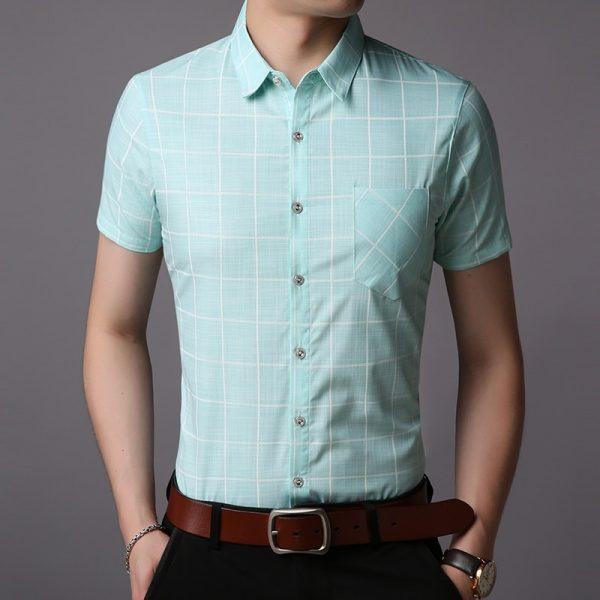 Fashion Summer Shirt Plaid Workout Casual Shirts
