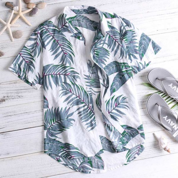 Floral Summer Men Tops Casual Hawaiian Shirt