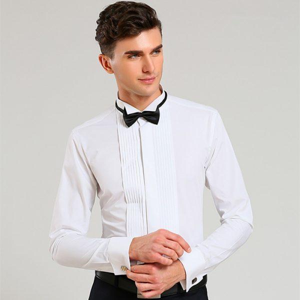 France Cuff Tuxedo Shirts Wedding Shirt