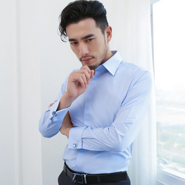 French Cuff Dress Shirt Long Sleeve Shirts