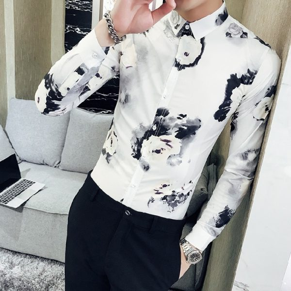 Korean Printing Shirts Long Shirt