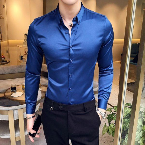 Long Sleeve Shirt Evening Dress Shirt