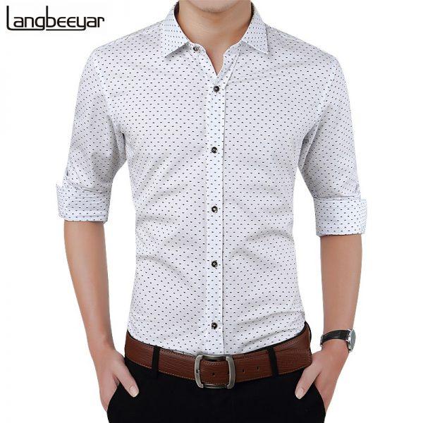 Long Sleeve Shirt Polka Dot Casual Shirt