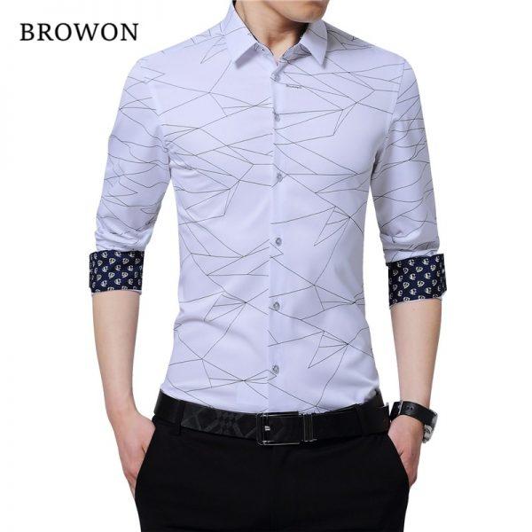 Luxury Geometric Print Party Shirt
