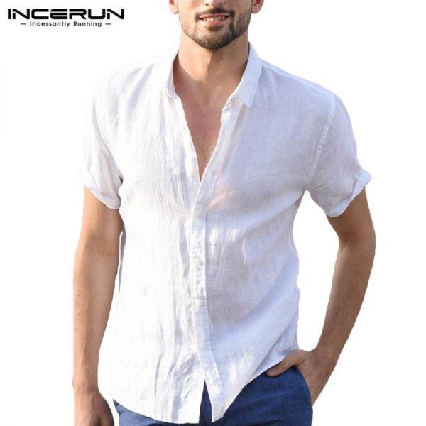 Male Tee Tops Casual Shirts Men Social Shirt