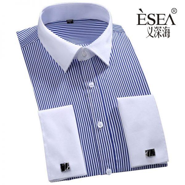 Men's Classic French Cufflinks Shirt