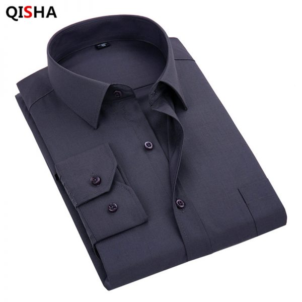 Men's Dress Shirt Long Sleeved Shirt