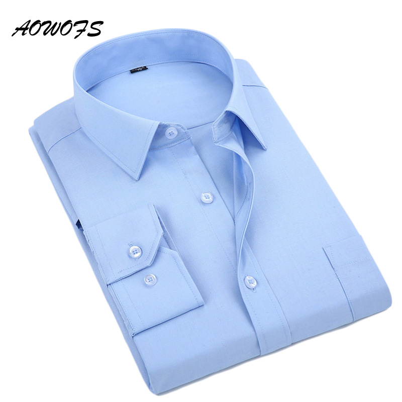 Men's Dress Shirts Long Sleeve Office Work Shirt
