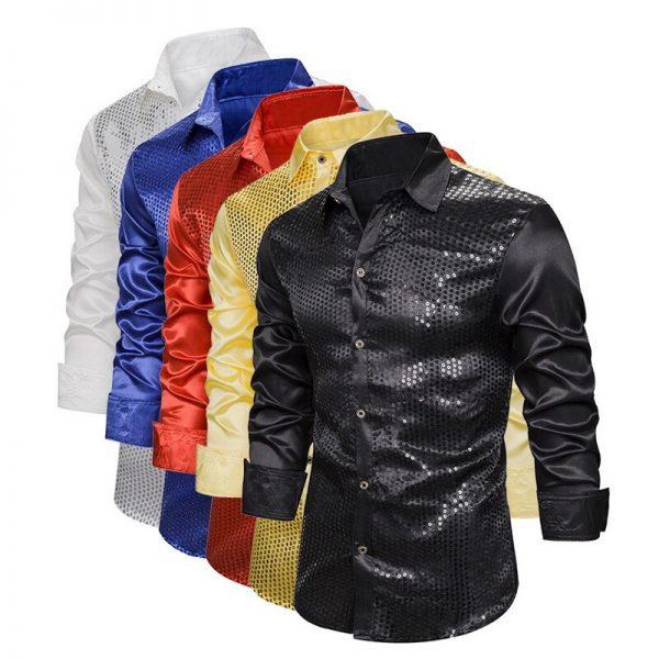 Men's Luxury Sequin Glitter Shirts