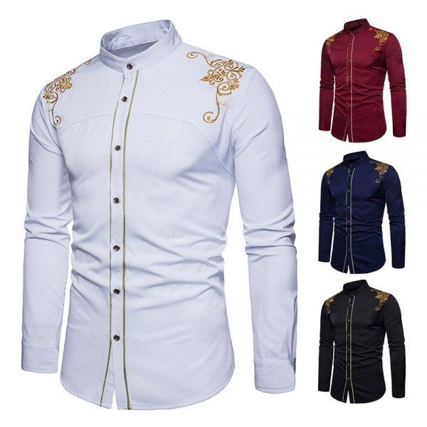Men's Shirts Vintage Embroidery Shirt