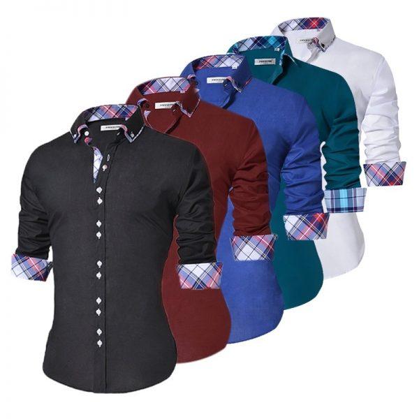 Men Casual Shirt Formal Dress Shirts