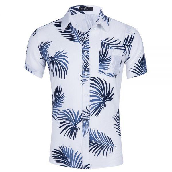 Men Hawaiian Shirts Beach Printed Shirt