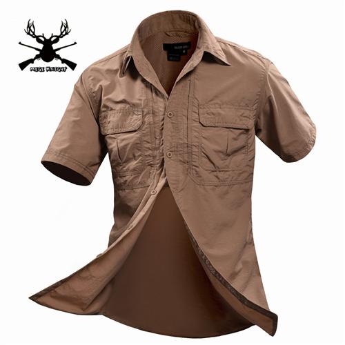 Men Shirt Short Sleeve Military Shirt