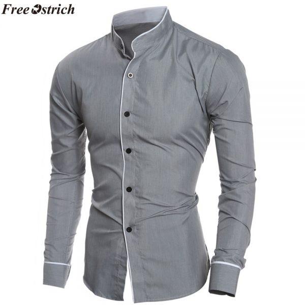 Men Shirts Fashion Long Sleeved Shirt