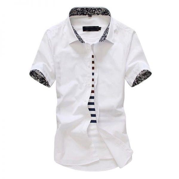 Men Solid Shirts Casual Business Shirt