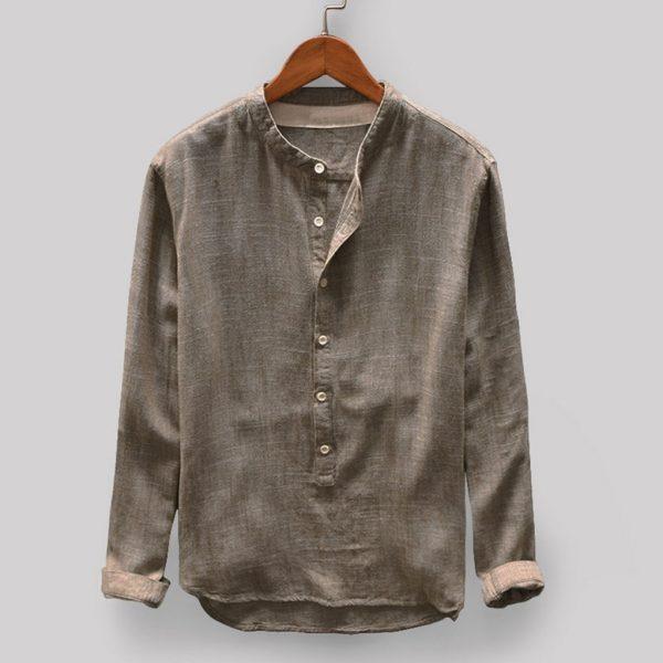 Men Sweatshirt Casual Linen Top Blouse