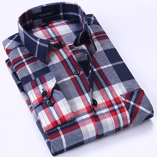 Plaid Brushed Shirt Pocket Shirts