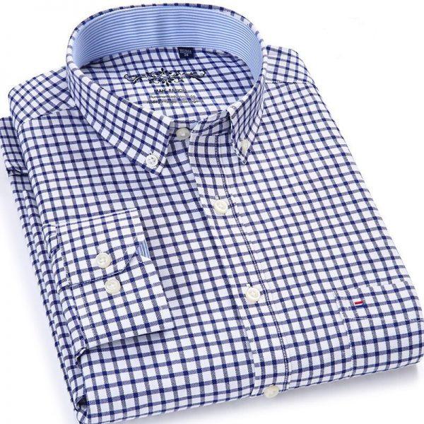 Regular Plaid Shirt Striped Shirts