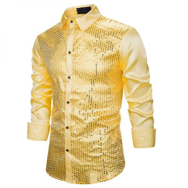 Sequins Flash Dance Dress Shirt