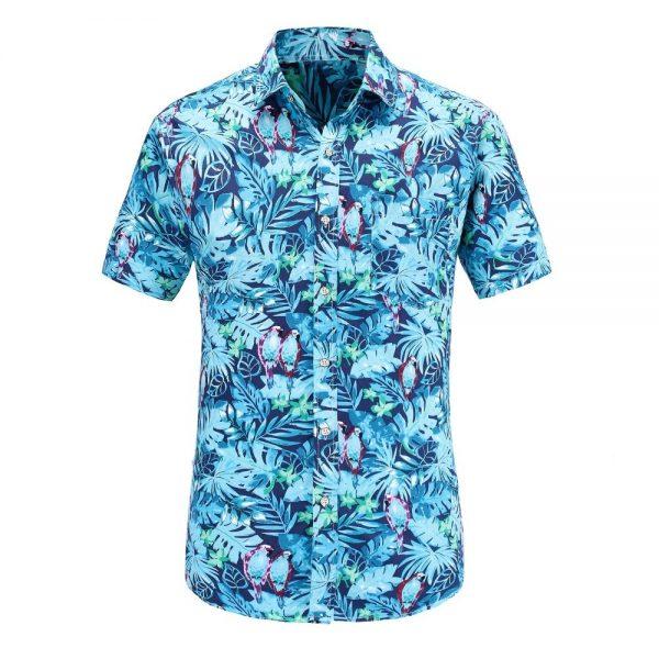 Short Sleeve Men Shirts Hawaiian Casual Shirt