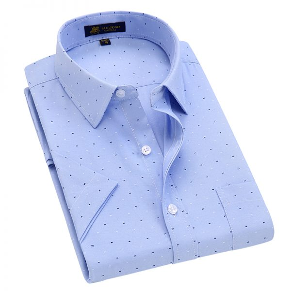 Short Sleeve Shirt Oxford Print Dress