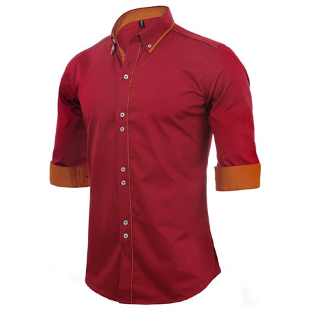 Slim Business Shirt Casual Brand Clothing