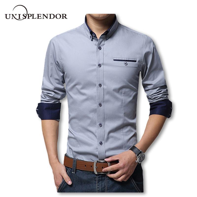 Spring Cotton Shirts Slim Fit Shirt
